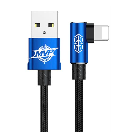 Baseus MVP Elbow Type Cable USB For IP 2A 1M Blue