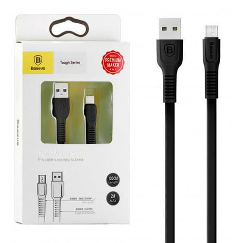 Baseus tough series cable For Micro 2A 1M Black