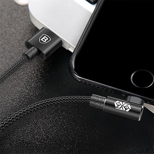 Baseus MVP Elbow Type Cable USB For IP 2A 1M Black