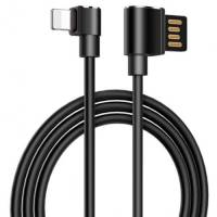 Hoco U37 Long Roam Charging Lightning Cable Black 1.2M