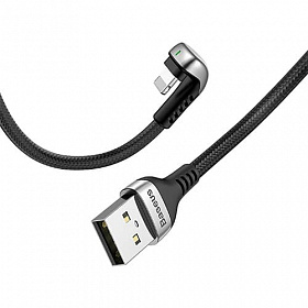 Baseus Green U-shaped lamp Mobile Game Cable USB For iP 2.4A 1M Black